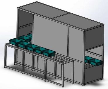 周转筐清洗机工作原理及结构图